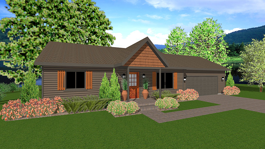 Balsam Ranch Floor Plan Custom Home by Everest Custom Home Builder Minocqua WI