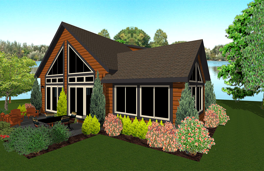 Cedarwood I Floor Plan Custom Home by Everest Custom Home Builder Minocqua WI