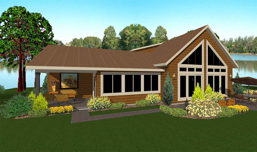 Cedarwood II Floor Plan Custom Home by Everest Custom Home Builder Minocqua WI