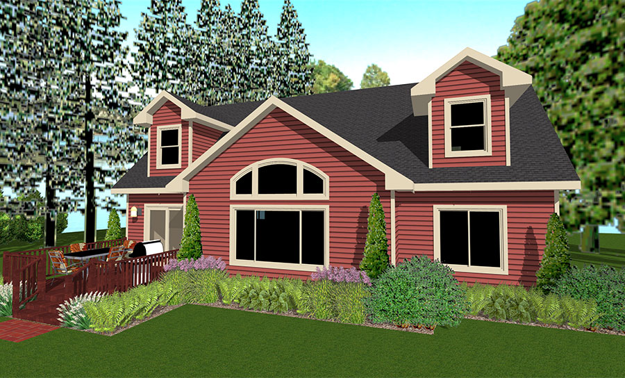 Red Pine Floor Plan Custom Home by Everest Custom Home Builder Minocqua WI