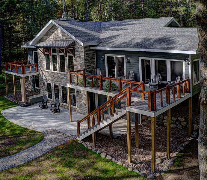 Custom home residential construction Minocqua WI