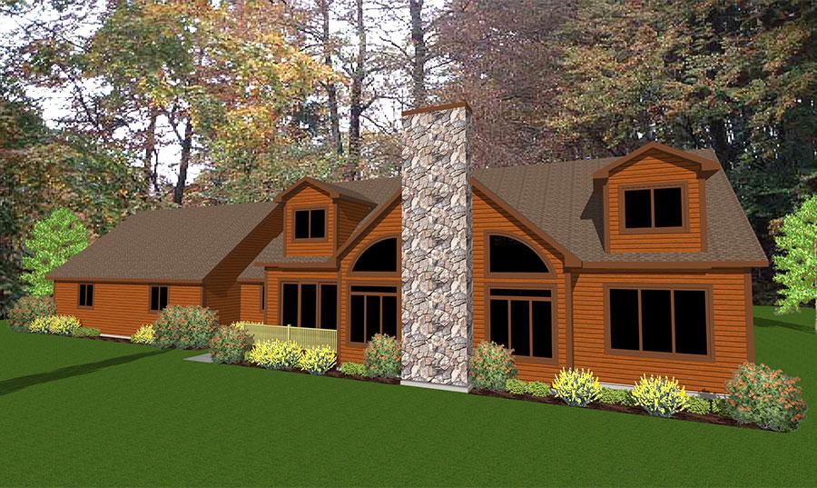 Willow Floor Plan Custom Home by Everest Custom Home Builder Minocqua WI
